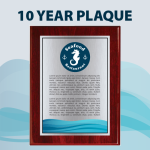 10 Year Plaque 10 Year Plaque